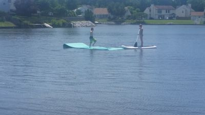 Bring your water toys.  You can paddleboard or play on the lake.