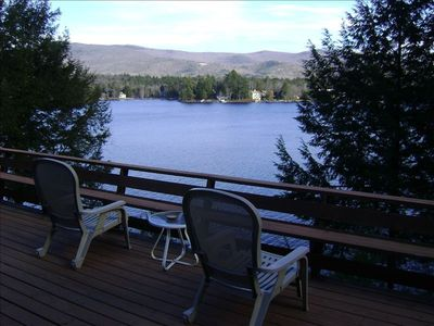 Photo for Waterfront Winnipesaukee Lake House with Dock, Deck and Views