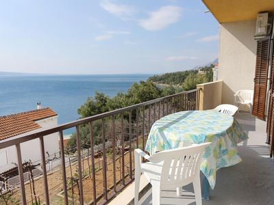 Photo for Two bedroom apartment with balcony and sea view Stanići (Omiš)