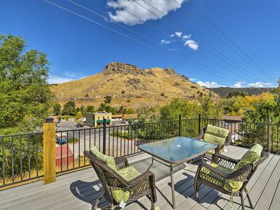 Photo for Central Lava Hot Springs Studio w/Deck & Views!