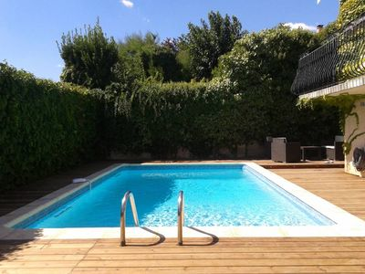 Photo for Montpellier / Juvignac Sunny house with pool in a dead calm