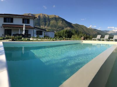 Photo for Panoramic house with private swimming pool in the green hills of the Garfagnana