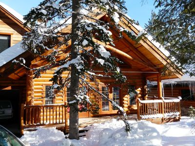 Photo for Warm And Friendly, Ski-in/ski-out Log Chalet At Khmr