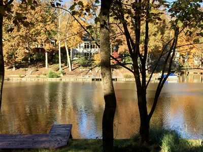 Lake view in the fall