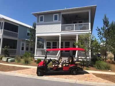 Photo for 6 Seater Golf Cart ~ 2 King Beds! ~ 4 Bikes, Bike to Beach ~ The Laughing Place at NatureWalk 30A