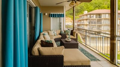 Photo for Beautiful, Large Waterfront Condo, Main Channel View, Boat Slip, and 4Bed 4Bath