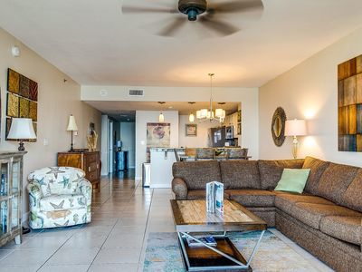 Photo for Modern condo w/ shared pool & fitness center - close to the beach!