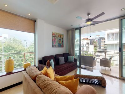 Photo for NEW LISTING! Luxury-style condo w/ shared pool & modern kitchen - near the beach