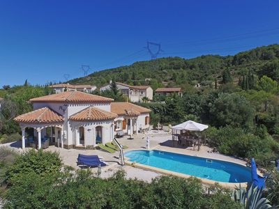 Photo for Spacious villa with air conditioning, heated private swimming pool, jacuzzi and enclosed garden