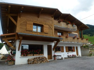 Photo for Sunny apartment in Praz sur Arly at the foot of the slopes