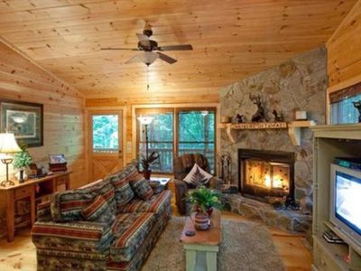 Photo for Wind Song Retreat is an ideal couple`s getaway close to serene lakes and gorgeous views in a private