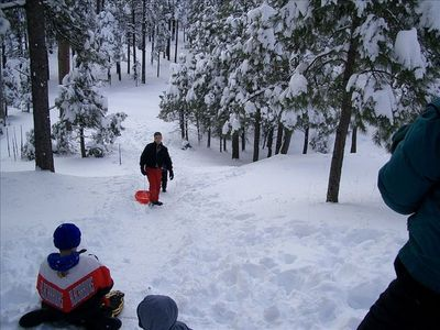 Sledding right out your back Door!