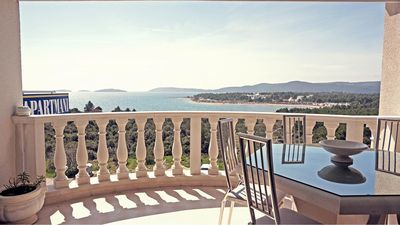 Sea view from he top off the Villa