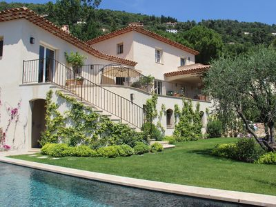 Photo for VILLA WITH BEAUTIFUL VIEW ON THE BAY OF CANNES, HEATED POOL AND GARDEN