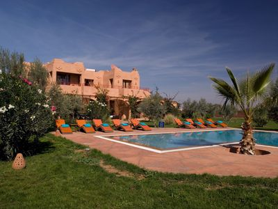 Photo for Charming Marrakech villa in landscaped gardens, olive groves and private pool