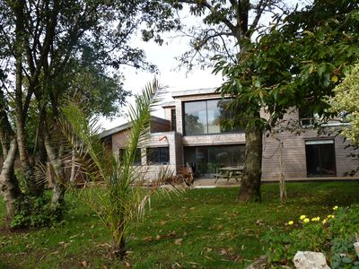 Photo for Beautiful wooden house architect, disabled access, close to beach and activities