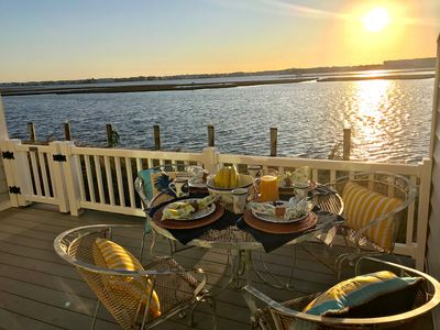 Photo for Families! Waterfront 3 BR (sleeps 7),huge kitchen, .9 mi to beach