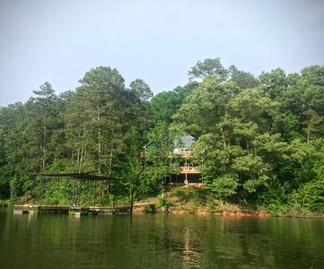 Photo for Water's Edge – 7 Bdrm / 5.5 Bath Home Steps From The Lake