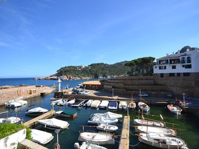 Photo for Formidable Apartment with Frontal Views of the Sea and the Port of Fornells