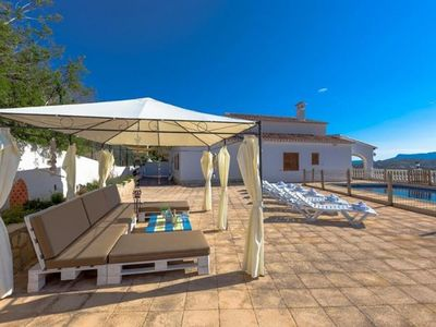 Photo for 4 bedroom Villa, sleeps 9 with Pool, Air Con, FREE WiFi and Walk to Shops