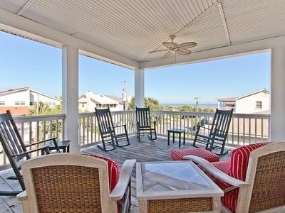 Photo for 5 OClock Somewhere: 4 BR / 5 BA home in Tybee Island, Sleeps 10