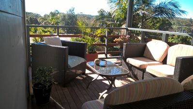 Photo for 350 Metres from Beach - Whale & Dolphin Watching.  Enjoy Indoor Firepit & hot tu