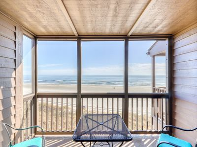 Photo for Beautifully oceanfront condo with direct beach access and shared pool/hot tub!
