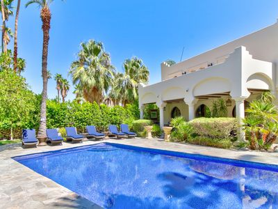 Photo for NEW LISTING! Designer home w/private pool & outdoor fireplace - walk everywhere!