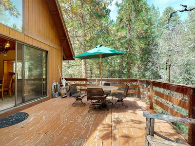Photo for Secluded cabin w/large deck & wood stove in peaceful forest setting