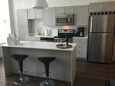 Fully equipped kitchen so you can dine in or make a hearty breakfast
