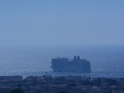 Photo for CANNES - Le Cannet - PANORAMIC SEA AND BAY CANNES, CHARMING, COOL, CALM