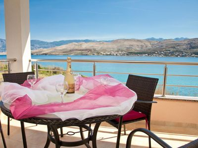 Photo for One bedroom apartment near beach Pag (A-9201-b)