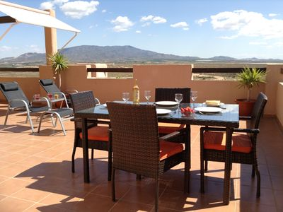 Photo for Sun Terrace - 5 Bed Apartment - Huge Terrace & Mountain Views with 24hr Security