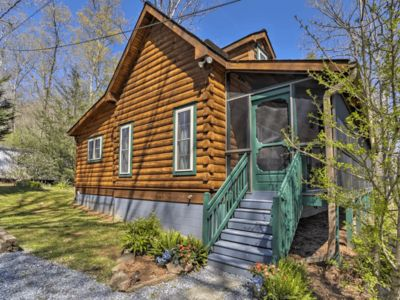 Photo for NEW! | Lamm's End Log Cabin | Close to DT Asheville & the Blue Ridge ParkWay!