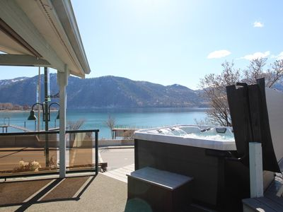 Photo for Lakeview home w/ wrap-around deck, easy lake access, private hot tub, and more!