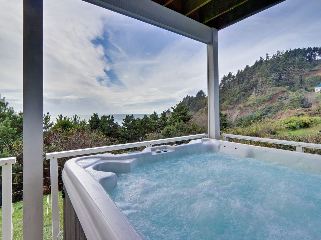 Modern oceanfront home w/private hot tub and space for the whole ...
