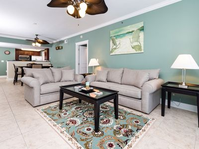Photo for Lovely Beachy Condo At Waterscape! Children's Playground, 2 Hot Tubs