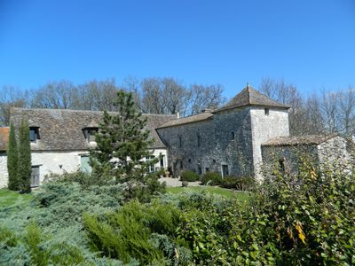 Photo for In exceptional castle farm from the 14th, detached house for 2 people