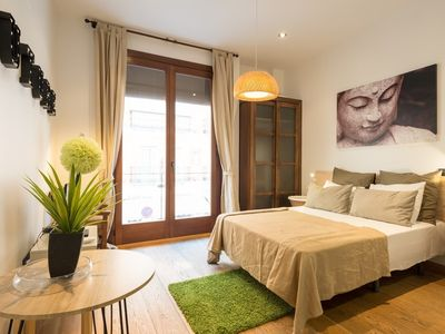 Photo for Studio apartment in the center of Málaga with Air conditioning, Lift, Washing machine (549037)