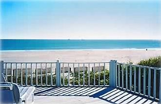 View of the beach and Atlantic Ocean from the upper deck of your private home