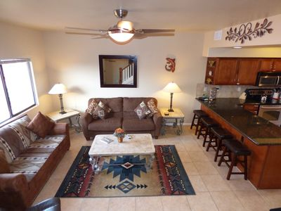 Photo for Vacation Townhome - Hot Tub, Red Rock Views, Pet Friendly, Walk to Dining/Trails