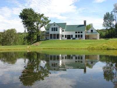 Photo for Beautiful Farmhouse on 15 acres with a pond, minutes to Okemo and Ludlow village