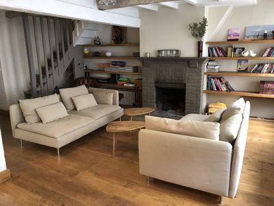 Photo for Beautiful, spacious town house with fireplace and patio. near Deauville