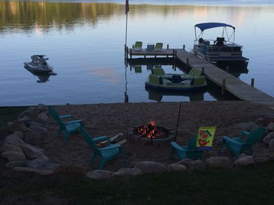 Photo for BEAUTIFUL Lakefront Cottage W/ Pontoon on Harper Lake- Completely Updated!
