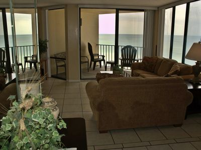 Photo for BEACH FRONT CONDO NEXT TO PINEAPPLE WILLY'S PANAMA CITY BEACH GULF BALCONY