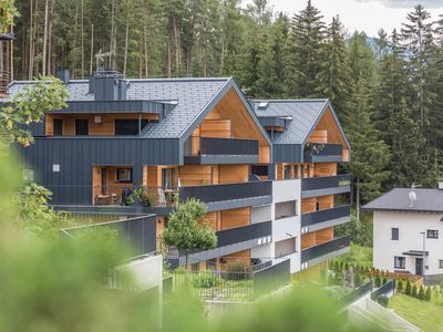 """Photo for Holiday Apartment """"Kronplatz Blick"""" with Mountain View of the Dolomites, Wi-Fi, Balcony & Terrace; Parking Available"""