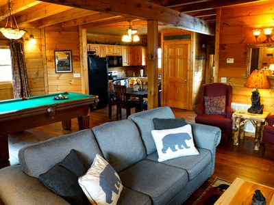 Photo for Cozy Luxury Cabin: Couple's Retreat/Small Family Getaway. 3.5 miles Dollywood