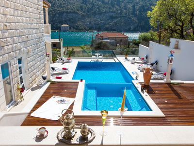 Photo for Perfect Holiday in Villa With Terrace,Swimming Pool,Jaccuzzi and Sea View