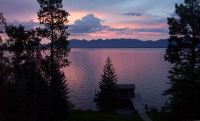 Photo for Waterfront, Beautiful Flathead Lake, Panoramic Views!