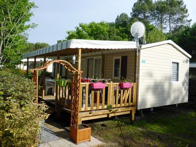 Photo for MOBILHOME CLIM - 8 P - CAMPING **** GREAT COMFORT - PRIVATE BEACH (PRIVATE BEACH)